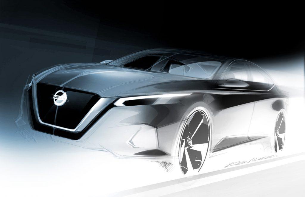 2019 Nissan Altima Exterior Design Sketch