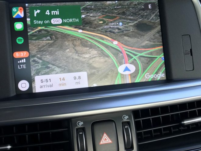 Google Maps Apple CarPlay