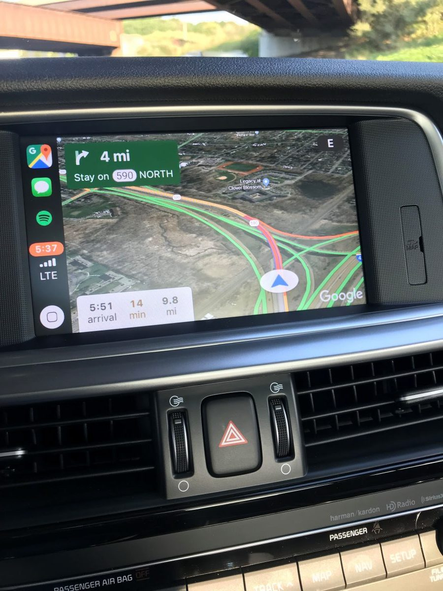 Google Maps on Apple CarPlay with iOS 12 - The Intelligent Driver on