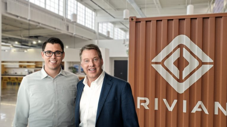 RJ Scaringe Rivian and Bill Ford